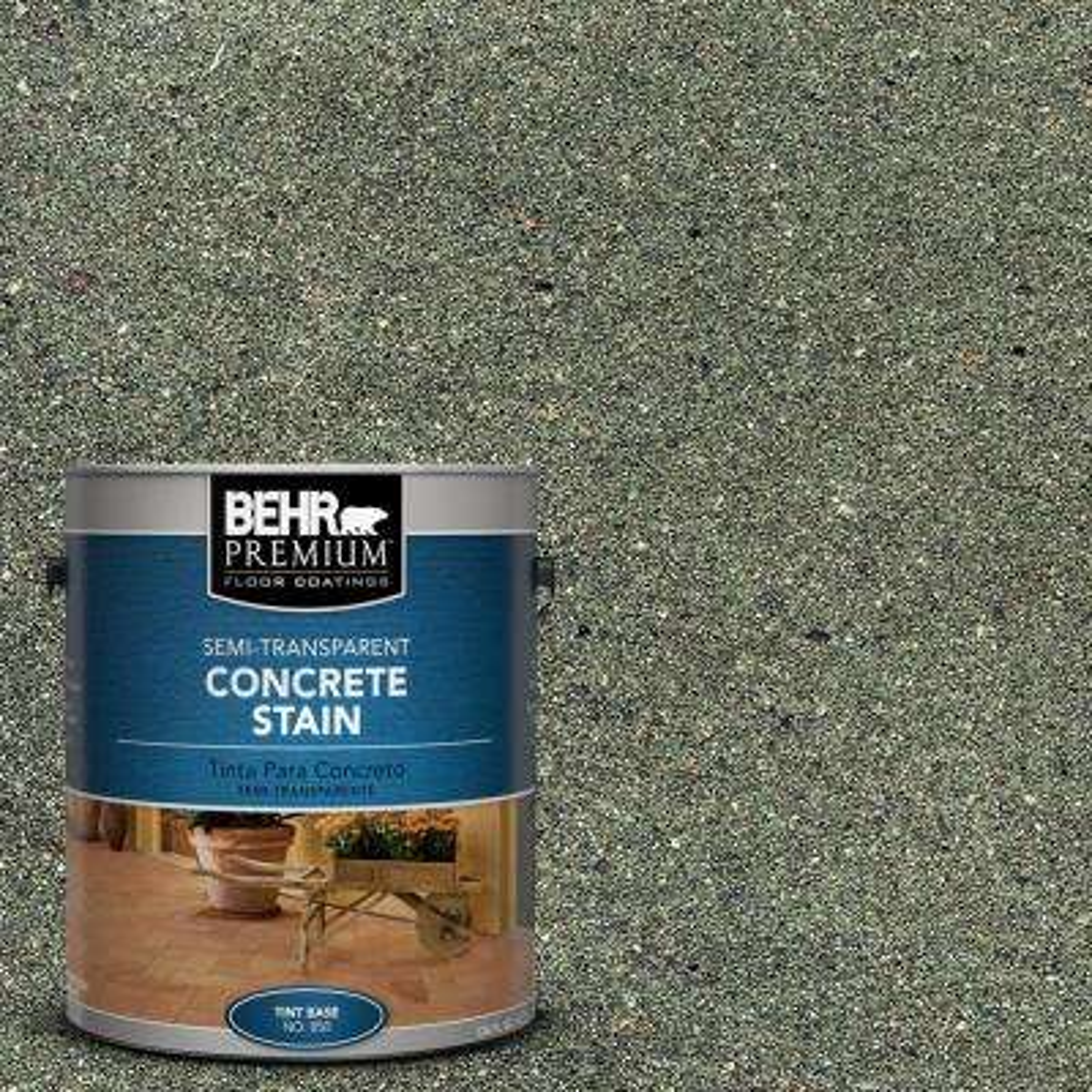 1 gal. #STC-25 Stone Moss Semi-Transparent Interior/Exterior Concrete Stain