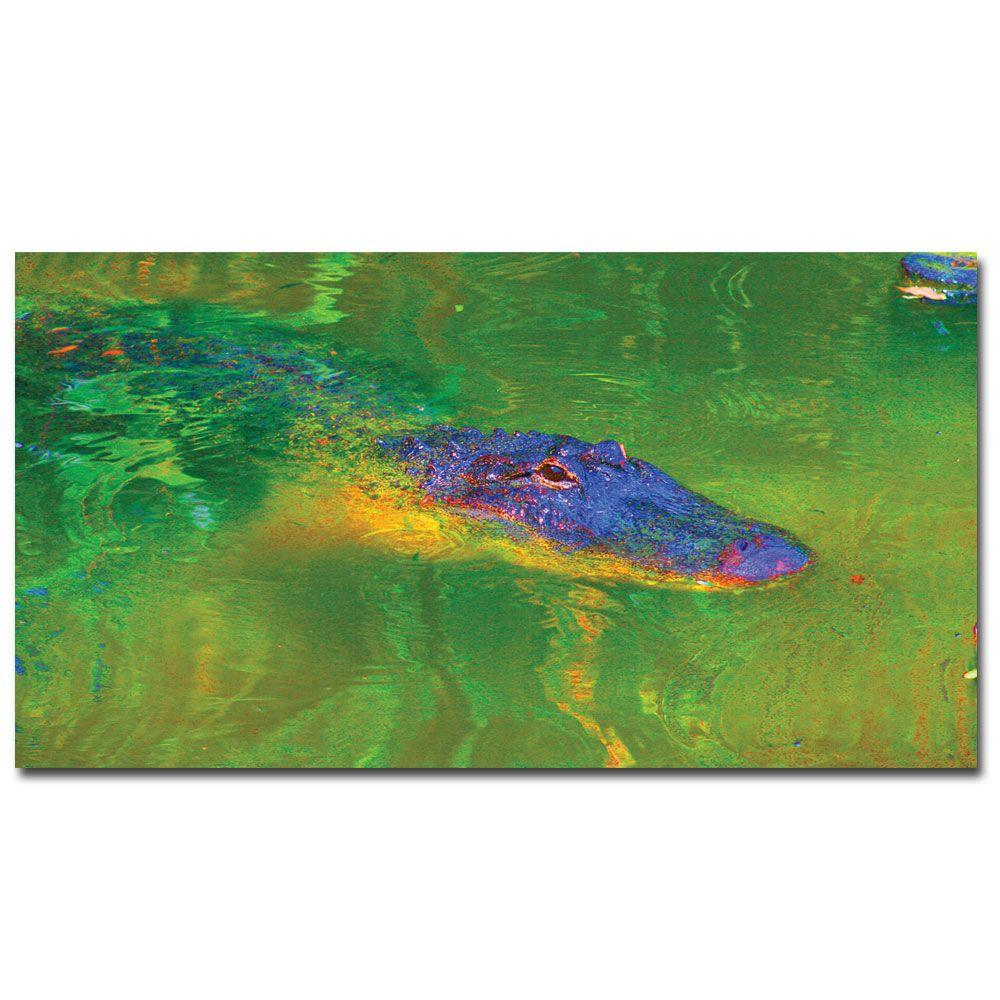 12 in. x 24 in. Gator II Canvas Art