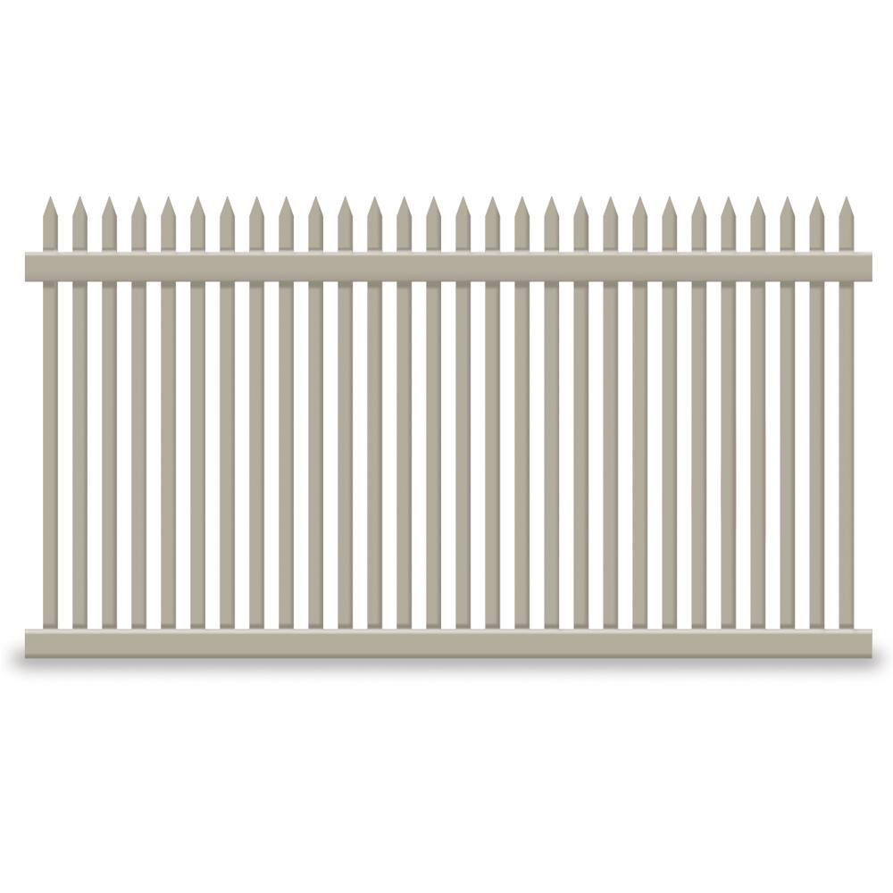 Hartford 4 ft. H x 6 ft. W Khaki Vinyl Picket