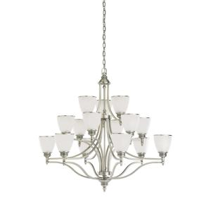 Sea Gull Lighting Laurel Leaf 15-Light Antique Brushed Nickel Chandelier with... by Sea Gull Lighting