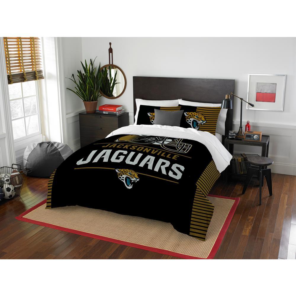 Jaguars 3-Piece Draft Multi Full/Queen Comforter Set 1NFL849000014RET