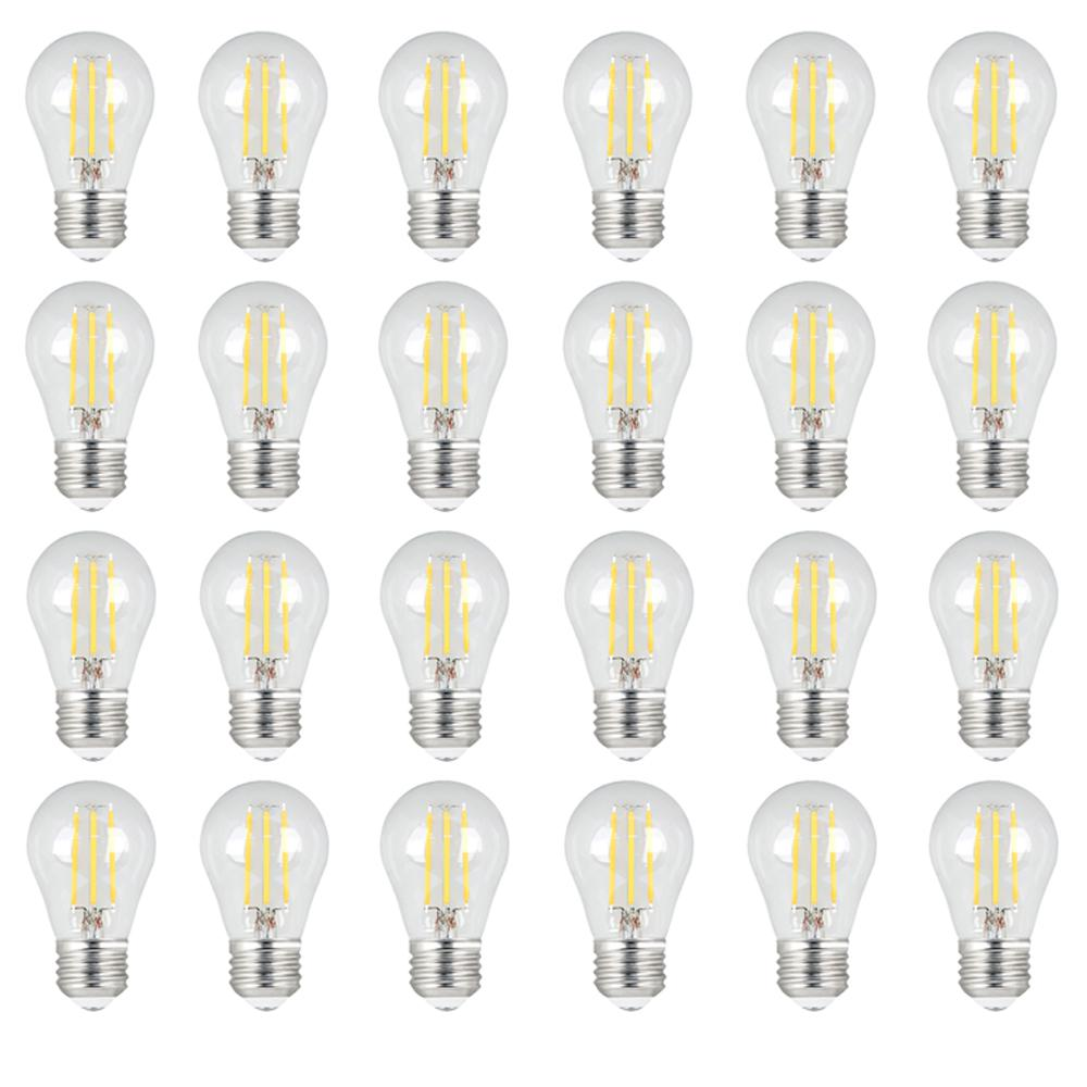 Feit Electric 40W Equivalent Daylight (5000K) A15 Dimmable Filament LED Clear Glass Light Bulb (24-Pack)