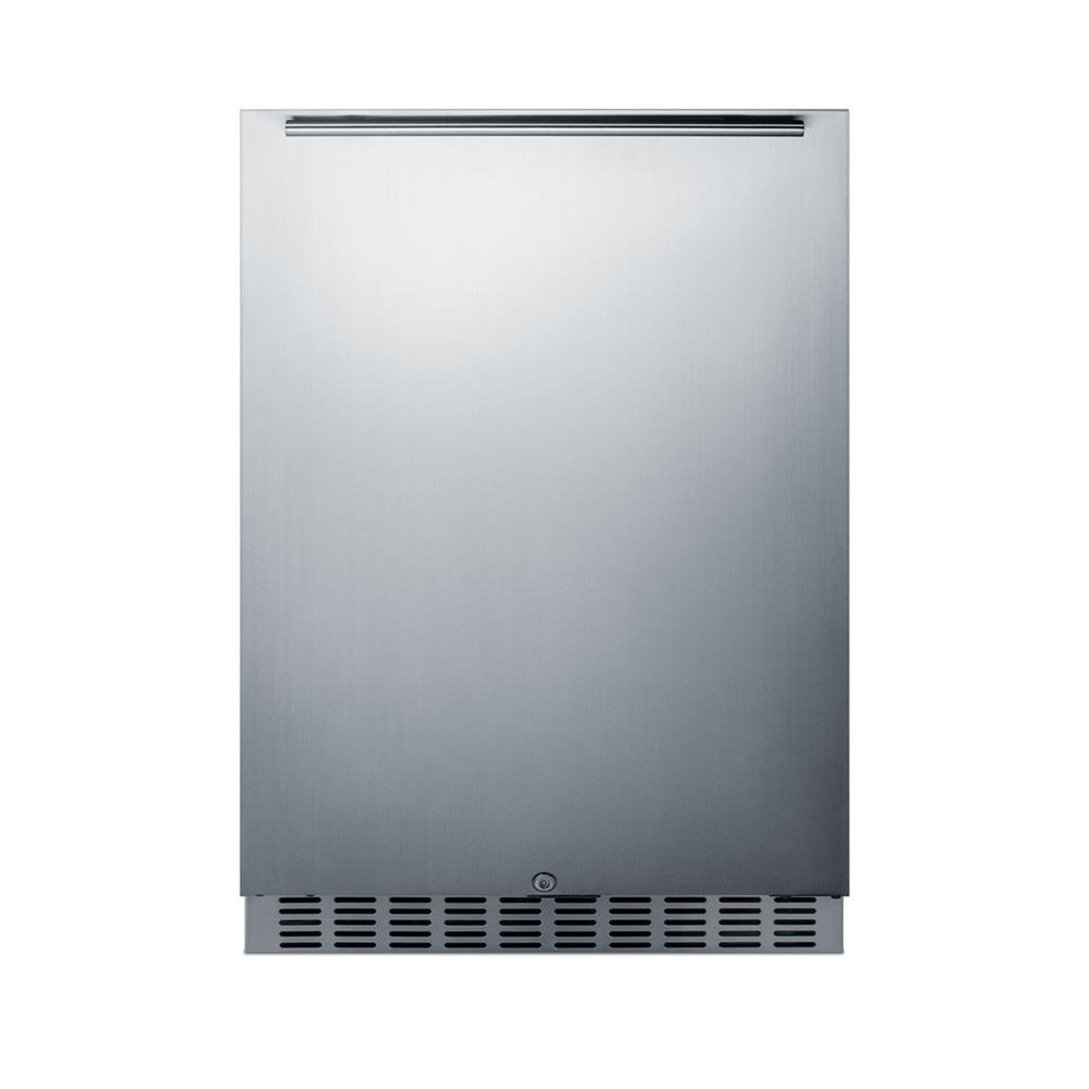 Summit Appliance 24 in. 4.6 cu. Ft. Outdoor Refrigerator in Stainless Steel