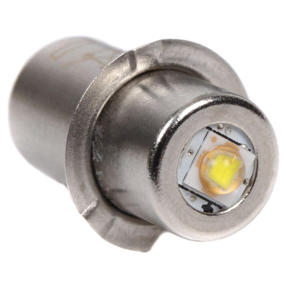 Uses 2 D Batteries Stap on End 5 Watt Metal Bright LED Flashlight w// Button