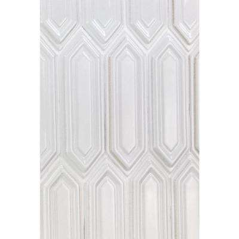 Oracle Blanco Hexagon  9-1/2 in. x 15-1/2 in 14 mm Glazed Ceramic Mosaic Tile  (1.02 sq. ft.)