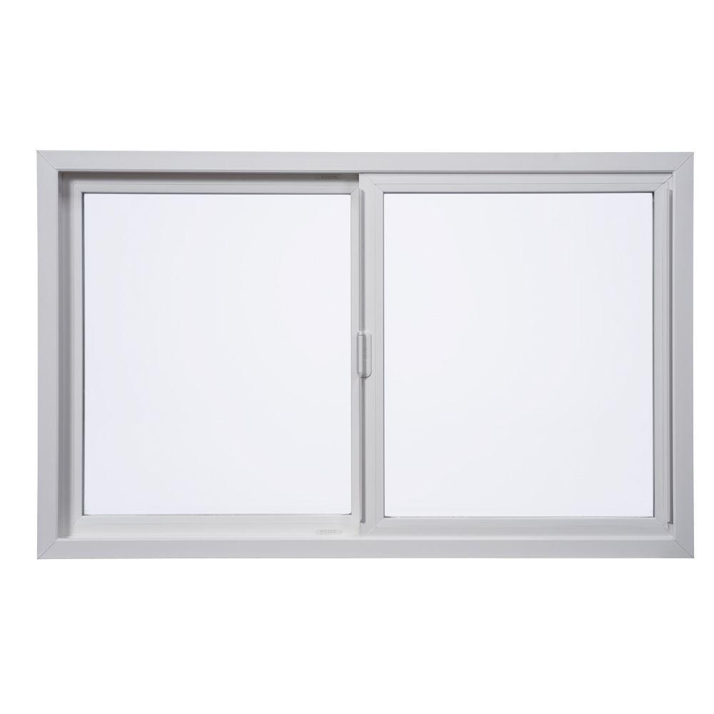 Milgard windows doors 48 in x 36 in tuscany left hand for Vinyl sliding windows
