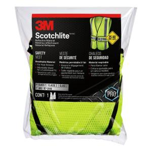 f6276259c 3M High-Visibility Yellow Reflective Personal Safety Vest-94616 ...