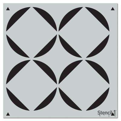 Square Petals Repeat Pattern Stencil