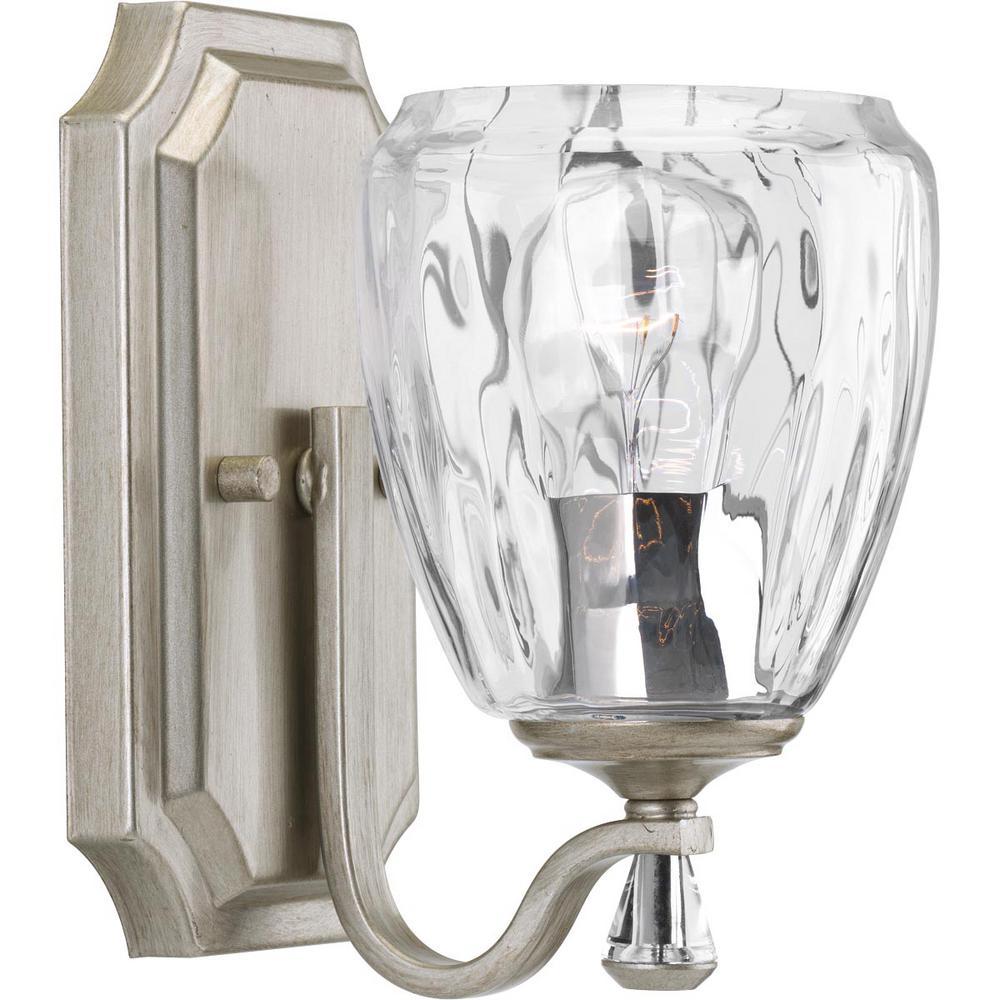 Anjoux Collection 1-Light Silver Ridge Bath Light