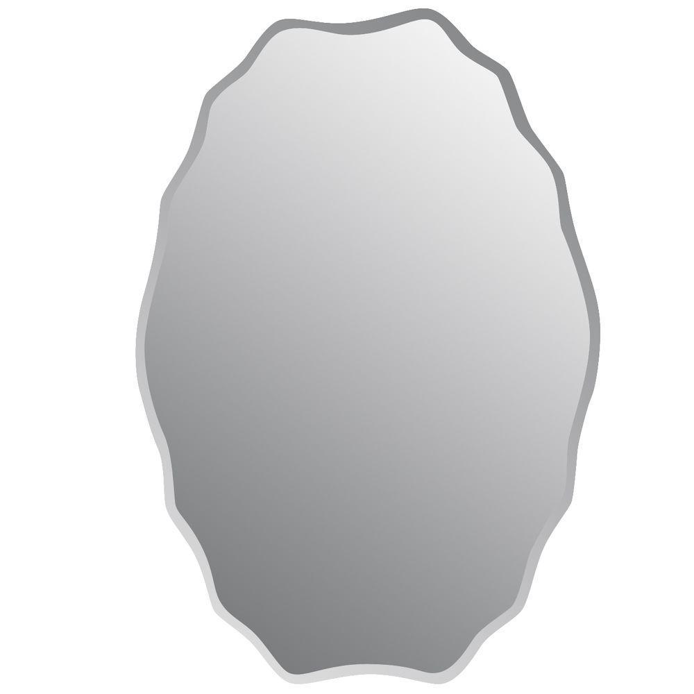 Studio Arts 20 in. x 30 in. Frameless Oval Decorative Mirror