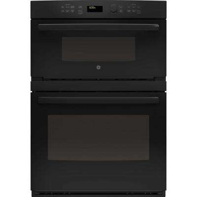 Profile 30 in. Built-In Electric Convection Wall Oven Self-Cleaning with Built-In Microwave in Black