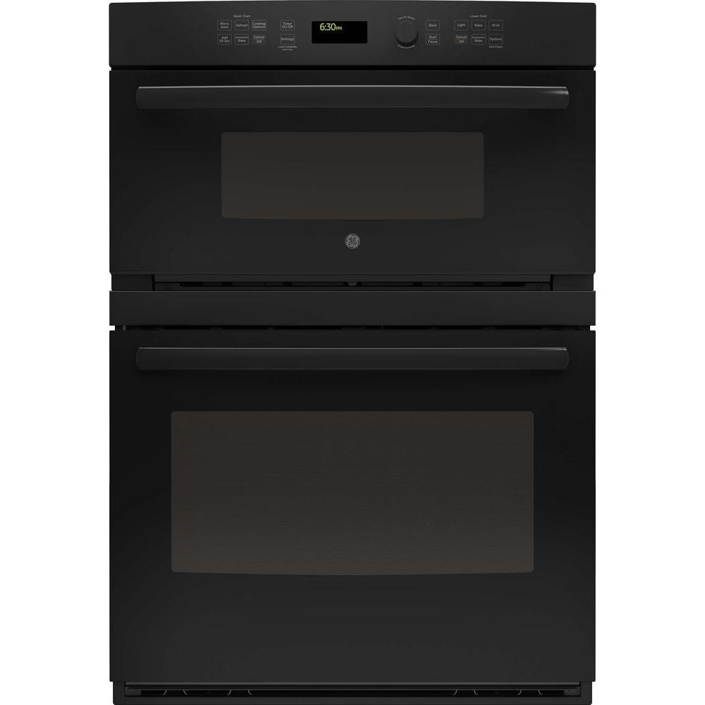 black ge profile microwave electric wall oven combinations pt7800dhbb 64_1000 ge profile 30 in built in electric convection wall oven self  at readyjetset.co