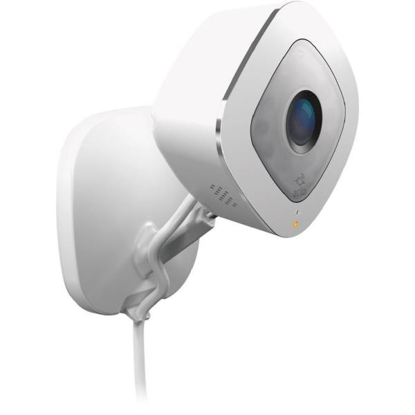 Arlo Q Wired Indoor 1080p Wi Fi Security Camera Vmc3040 100nas The Home Depot