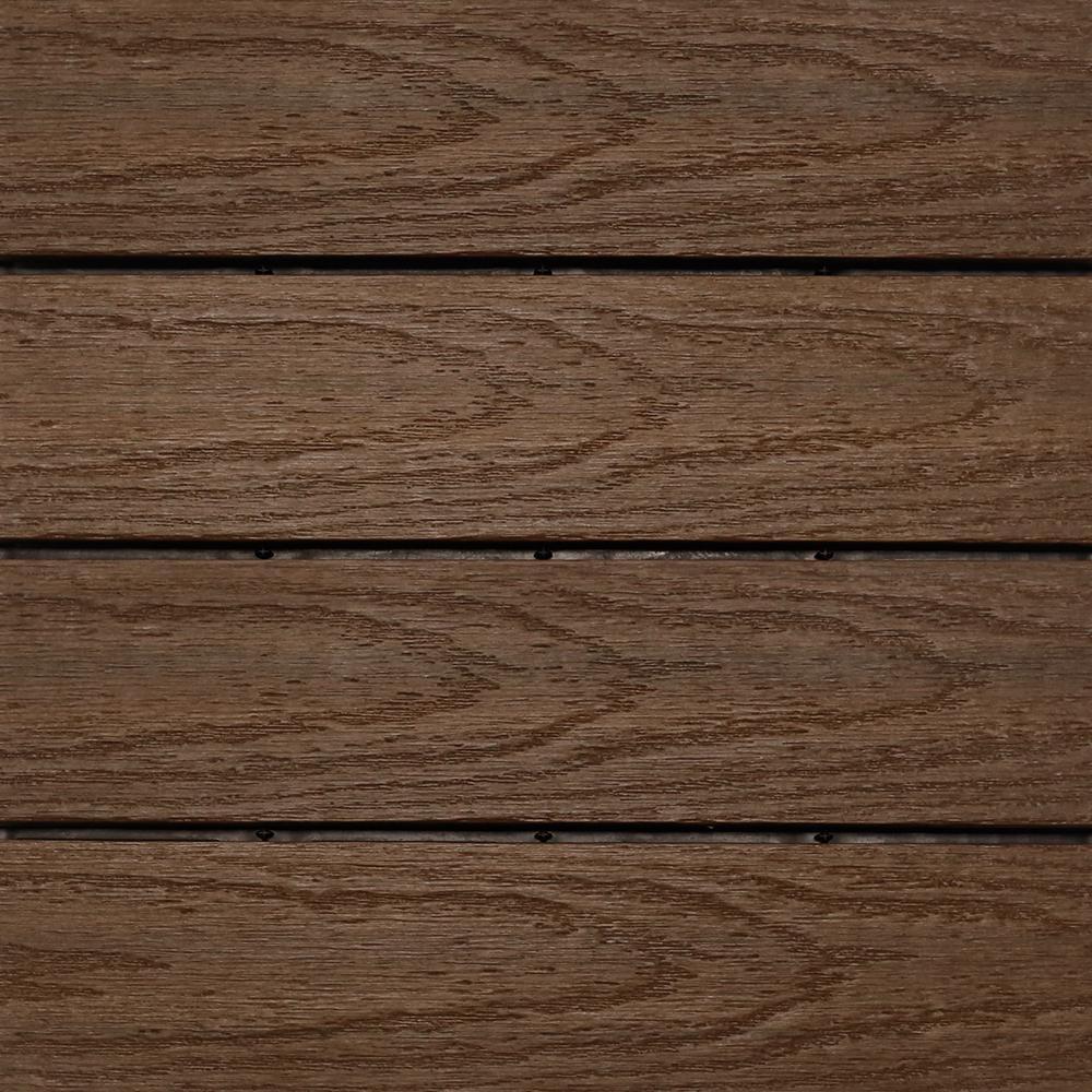 NewTechWood UltraShield Naturale 1 Ft. X 1 Ft. Quick Deck Outdoor Composite  Deck Tile