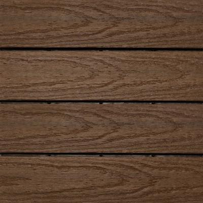 UltraShield Naturale 1 ft. x 1 ft. Quick Deck Outdoor Composite Deck Tile in Brazilian Ipe (10 sq. ft. per box)