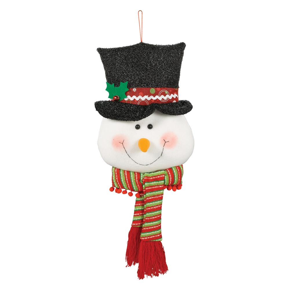 christmas snowman plush door hanger