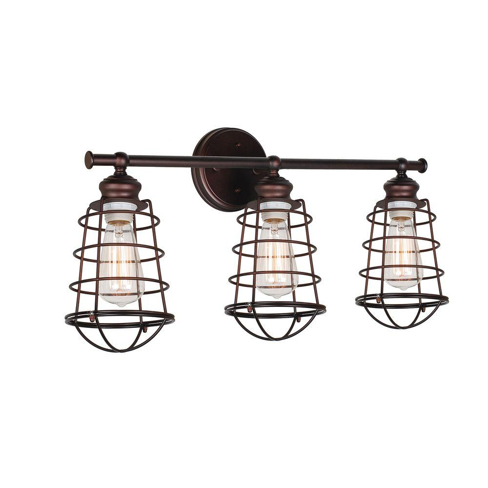 Design House Ajax Collection 3 Light Textured Coffee