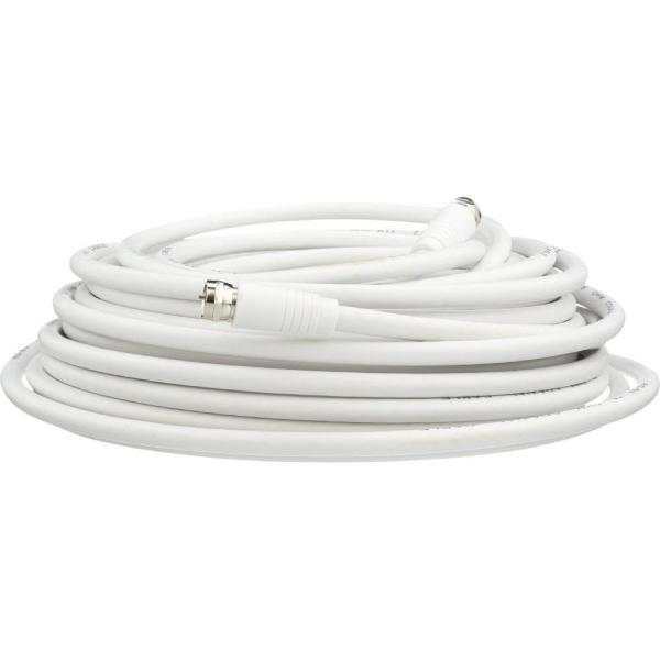50 ft. RG6 Coaxial Cable in White