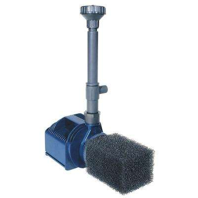 Pro Series 1664-GPH Quiet One 6000 Pond Pump with Fittings and Spray Nozzles