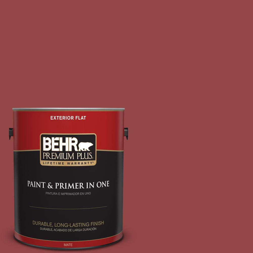 1 gal. #HDC-FL14-4 Cranberry Zing Flat Exterior Paint