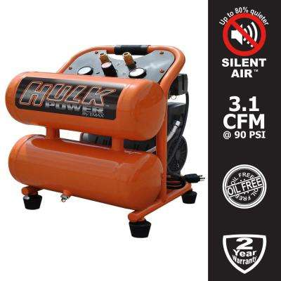 4 Gal. 1 HP Portable Electric-Powered Twin Stack Silent Air Compressor