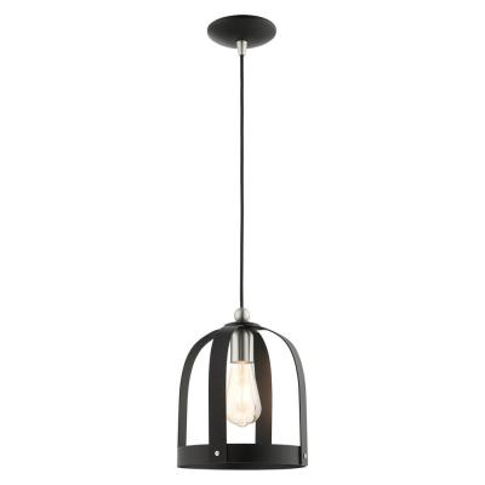 Stoneridge 1 Light Textured Black Mini Pendant