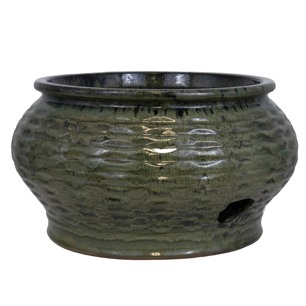 Trendspot 19 In Wave Ceramic Hose Pot