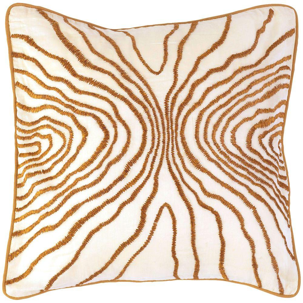 Artistic Weavers StitchedB 18 in. x 18 in. Decorative Down Pillow-DISCONTINUED
