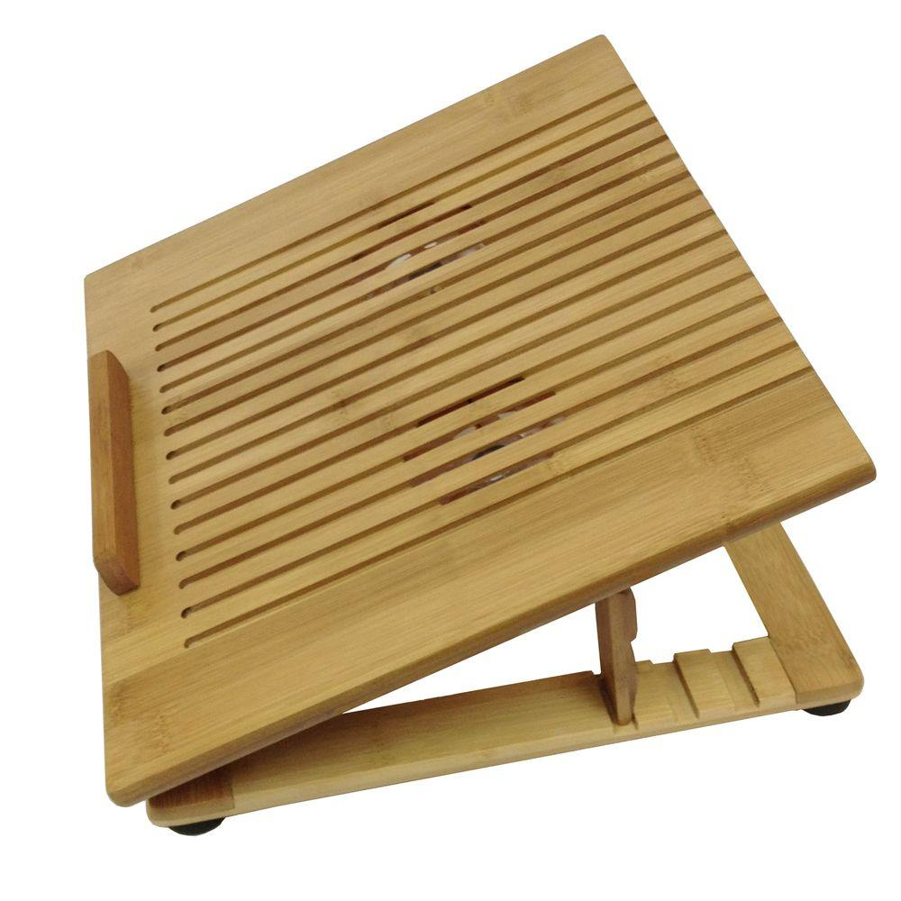 Buddy Products Bamboo Tabletop Holder Bb 003 The Home Depot