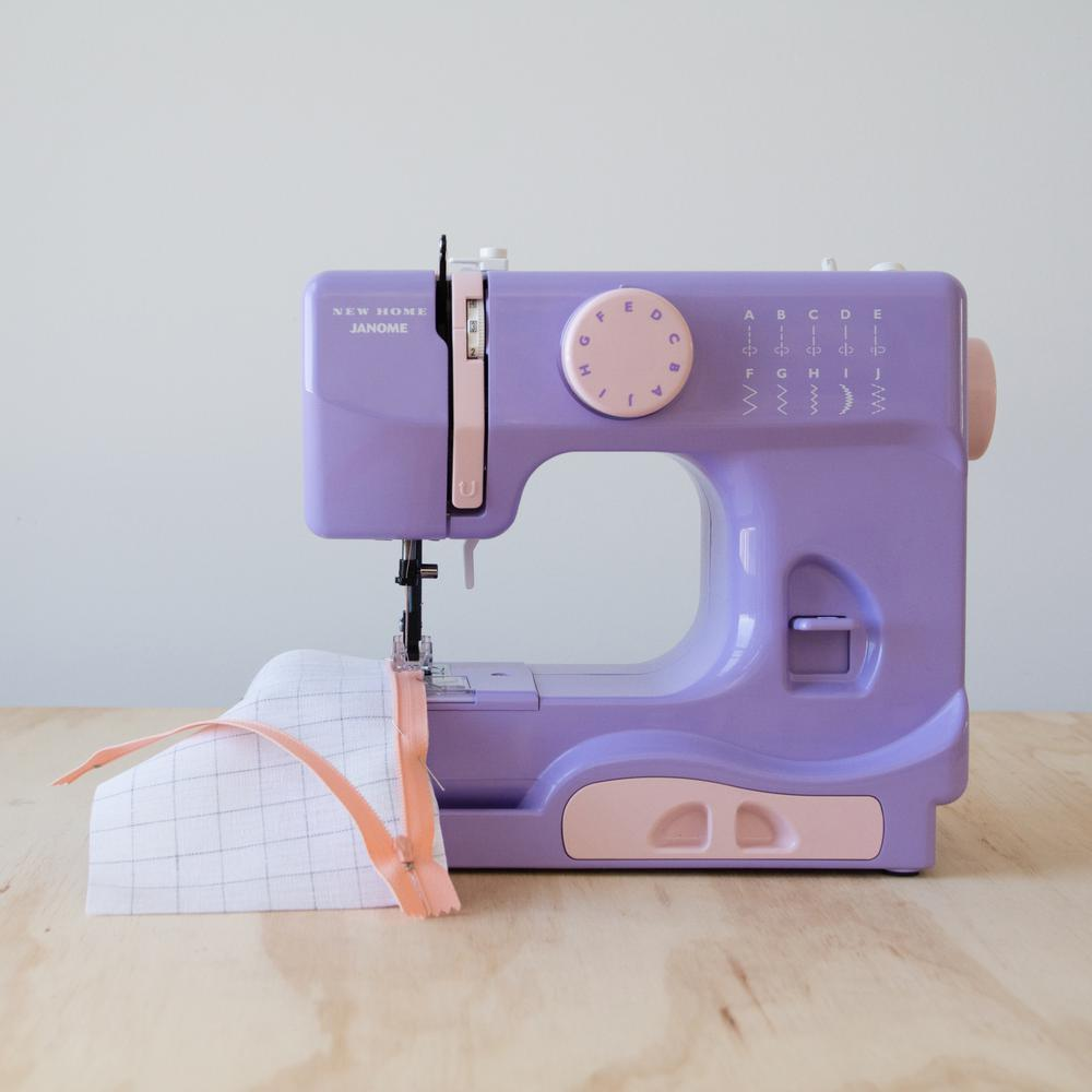 Janome Janome 10-Stitch Sewing Machine, Purple