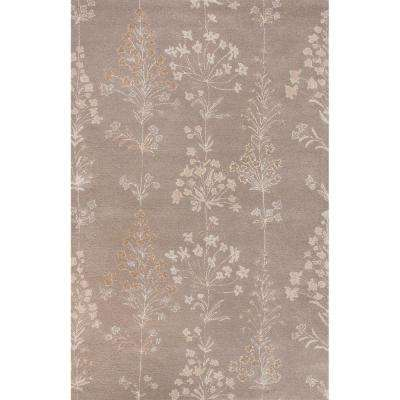 Hand-Tufted Smoked Pearl 2 ft. x 3 ft. Floral Area Rug