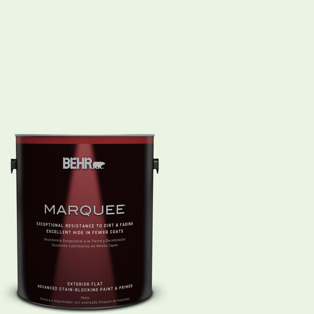 BEHR MARQUEE 1-gal. #430A-1 Mint Hint Flat Exterior Paint