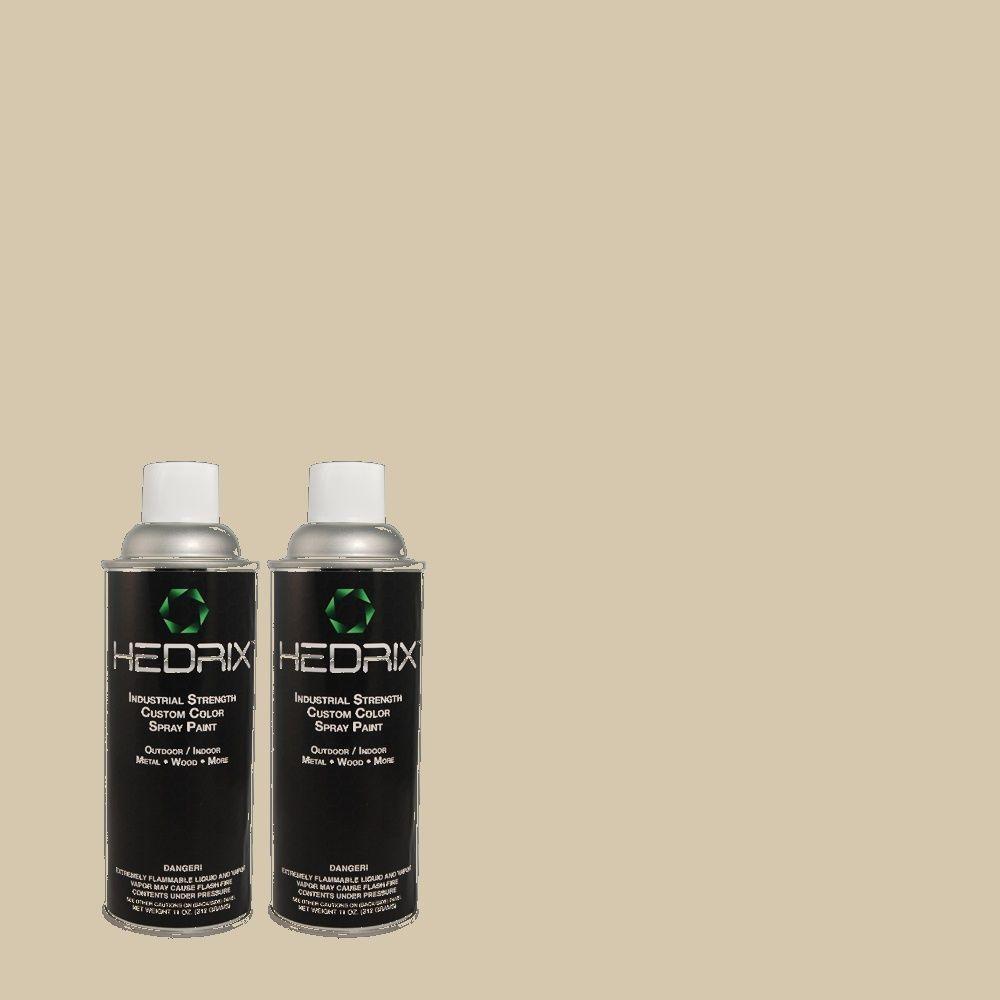 Hedrix 11 oz. Match of PPU5-8 Sculptor Clay Semi-Gloss Custom Spray Paint (2-Pack)