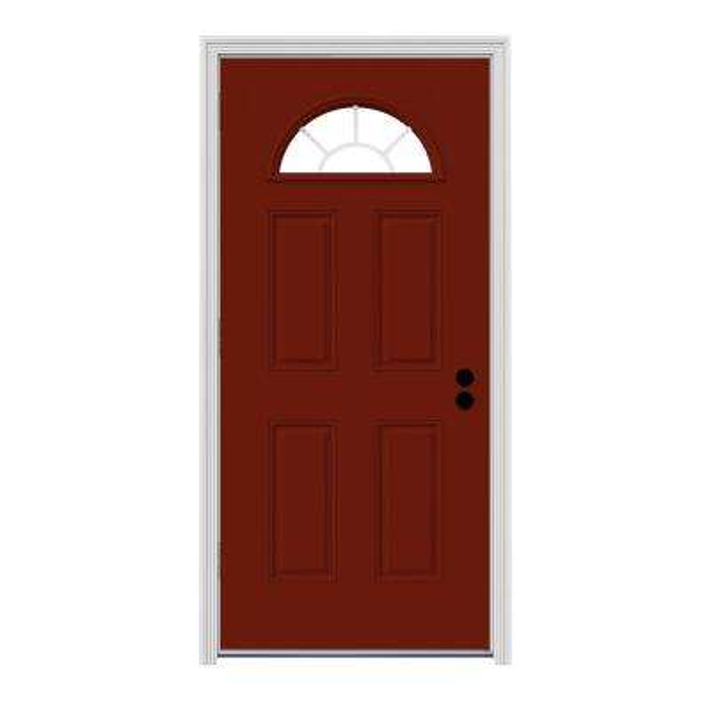 Red Steel Doors Front Doors The Home Depot