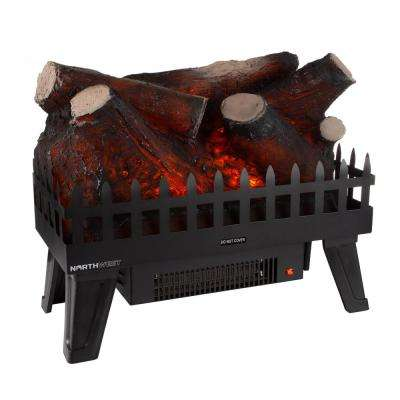 19 in. Ventless Electric Log Fireplace Insert