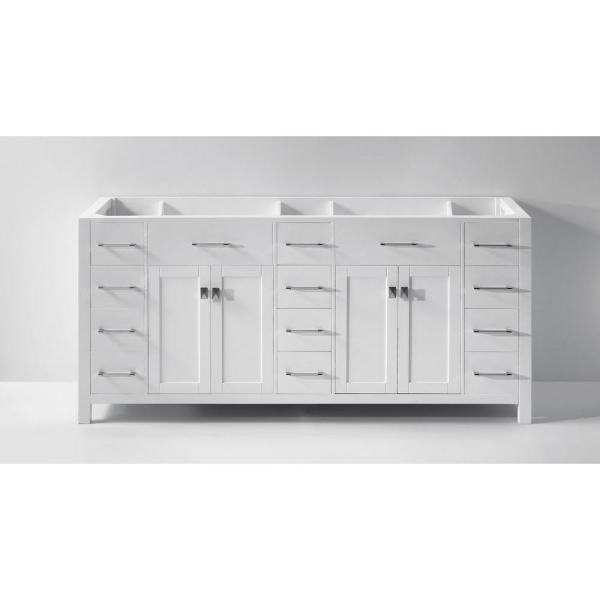 Caroline Parkway 72 in. W Bath Vanity Cabinet Only in White