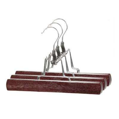 Cherry Wood Skirt Hanger (3-Pack)