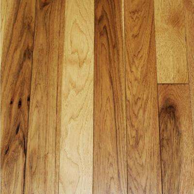 Wire Brushed Tanned Hickory 3/4 in. Thick x 3-1/4 in. Wide x Random Length Solid Hardwood Flooring (22.5 sq. ft. / case)