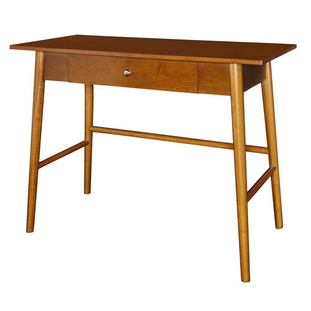 Linon Home Decor Cannon Rich Brown Writing Desk-THD00629 ...