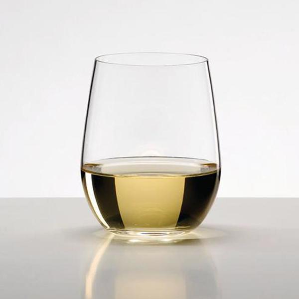 O Series 11.25 oz. Stemless Crystal Viognier and Chardonnay Wine Glass (4-Pack)