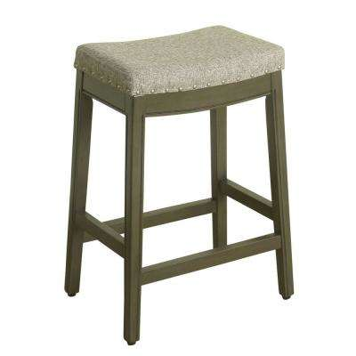 Blake Backless 24 in. Gray Bar Stool