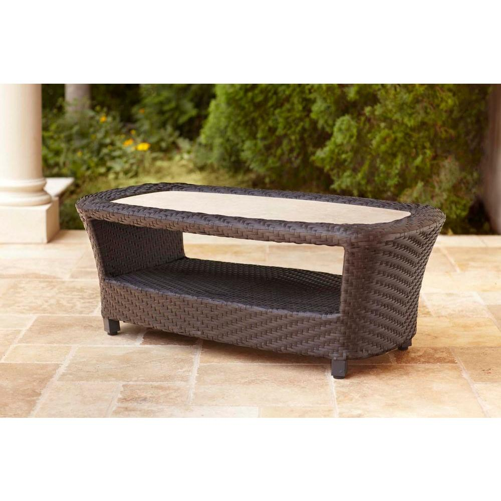 Brown Jordan Highland Patio Coffee Table Dy10035 Tc The Home Depot