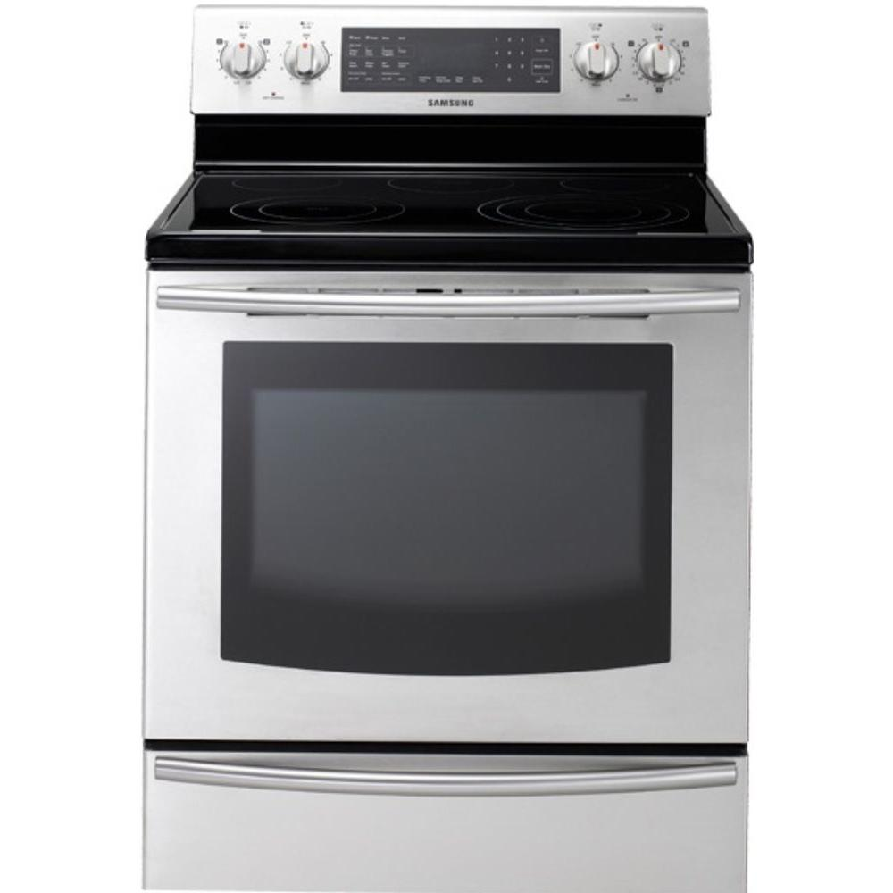 Samsung 5.9 cu. ft. Electric Range with Self-Cleaning True Convection Oven in Stainless Steel