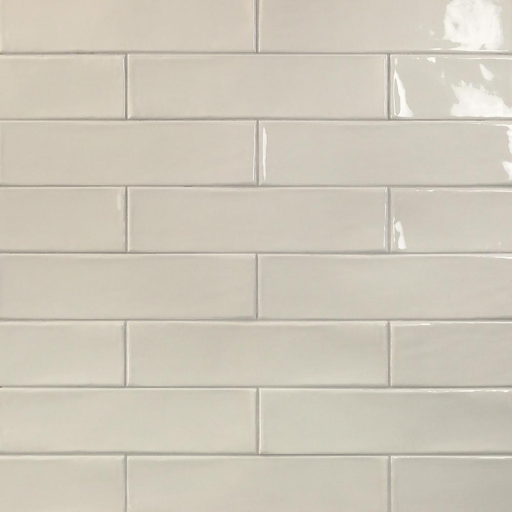 Splashback Tile Birmingham Dove Gray 3 In X 12 8mm Polished Ceramic Subway