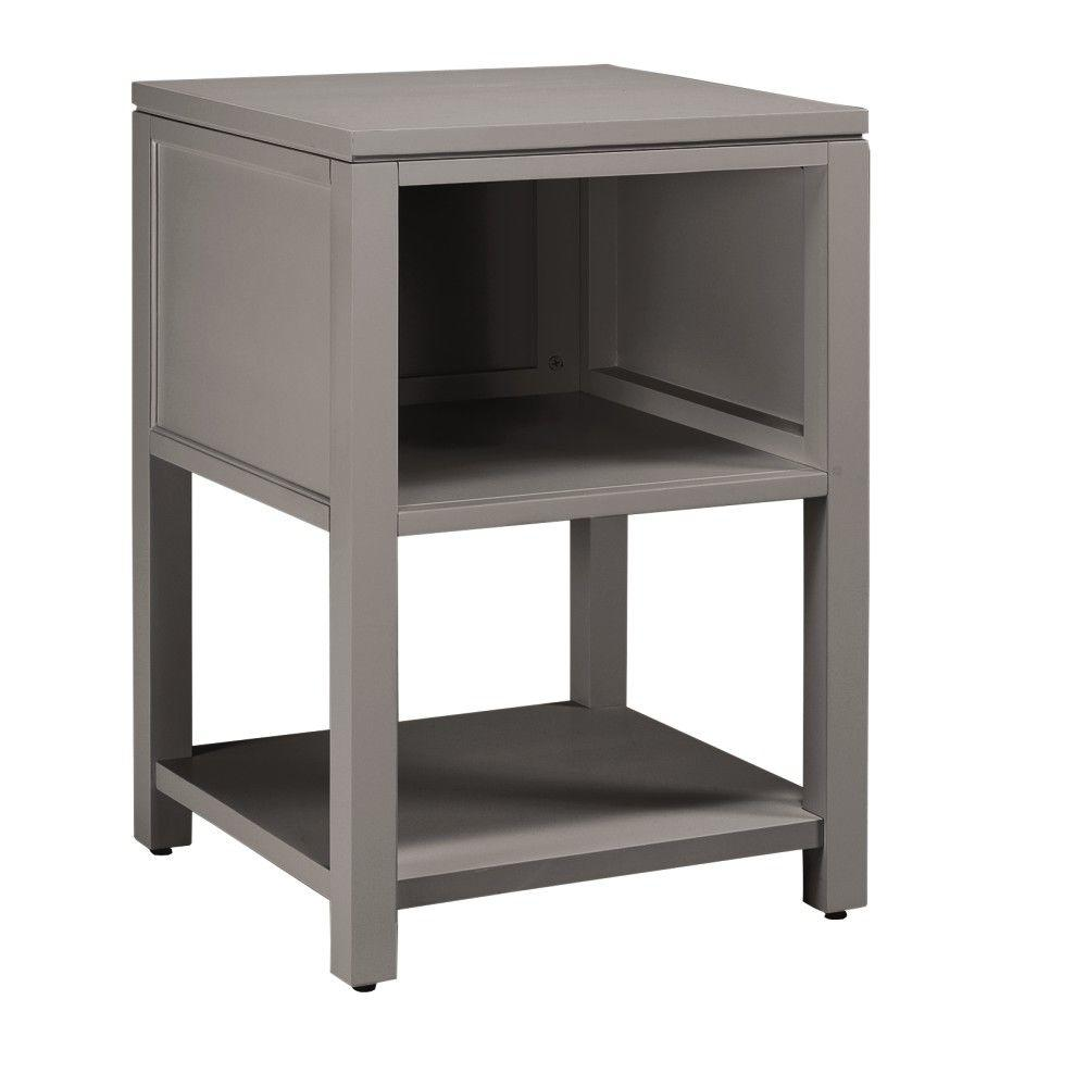 Home Decorators Collection Craft Space Cement Gray 21 in. W Storage Console