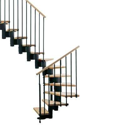 "Kompact 29 in. Black Modular Staircase ""U"" Kit"