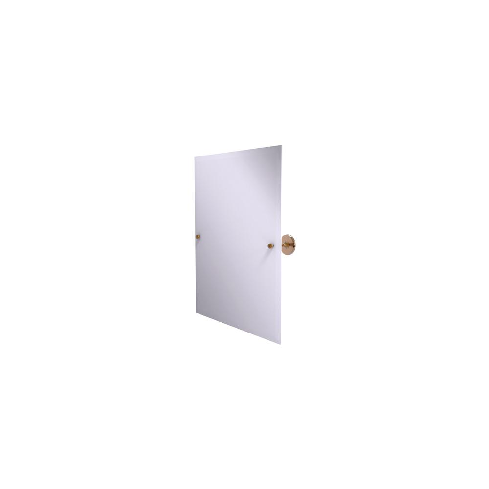 Shadwell Collection Frameless Rectangular Tilt Mirror with Beveled Edge in