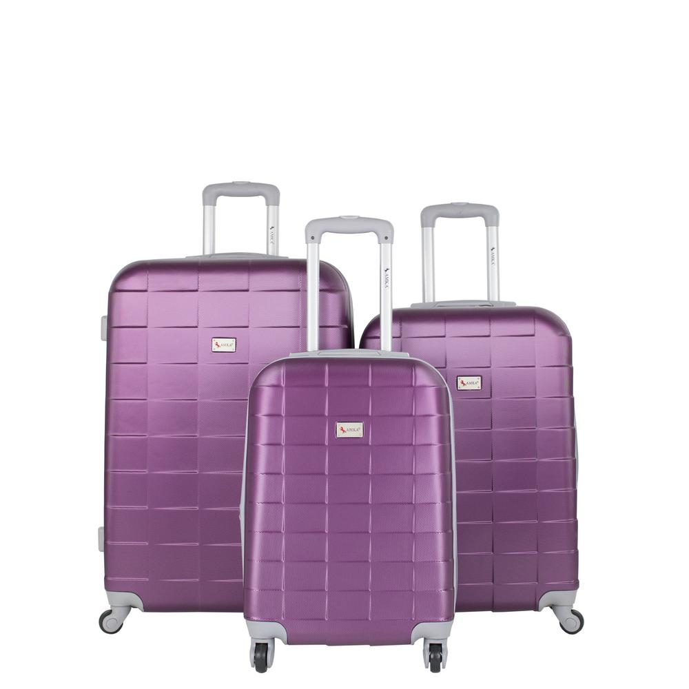 Palette Grape 3-Piece Expandable Hardside Spinner Luggage Set