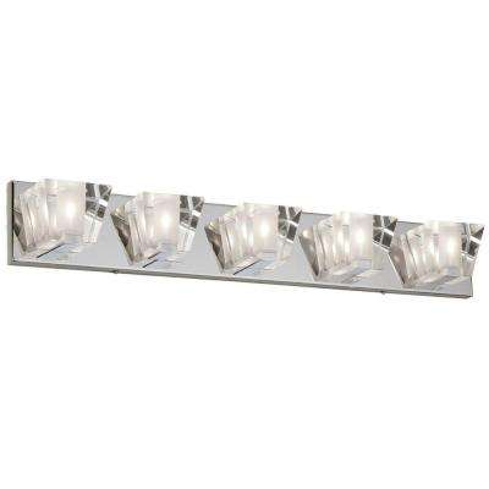 Ellipse 5-Light Polished Chrome Vanity Light