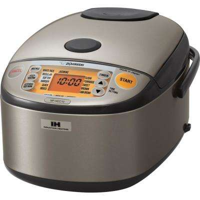 Induction Heating System Rice Cooker and Warmer NP-HCC10 Stainless